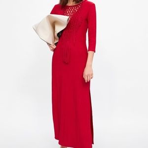 ZARA RED KNOTTED DRESS